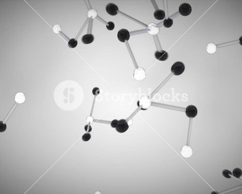 Black and white molecule cells