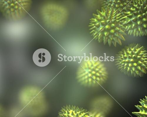 Green virus cells