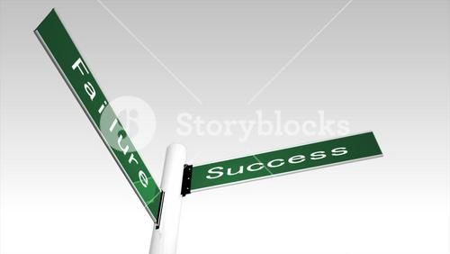 Succcess and failure sign post
