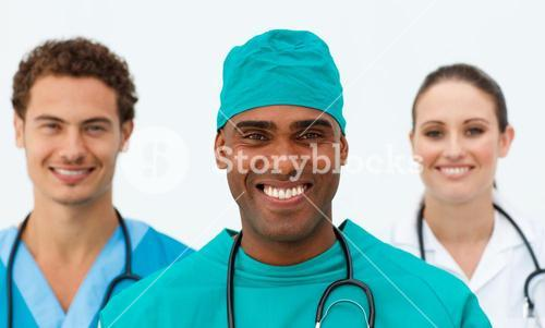 Portrait of a charming medical team