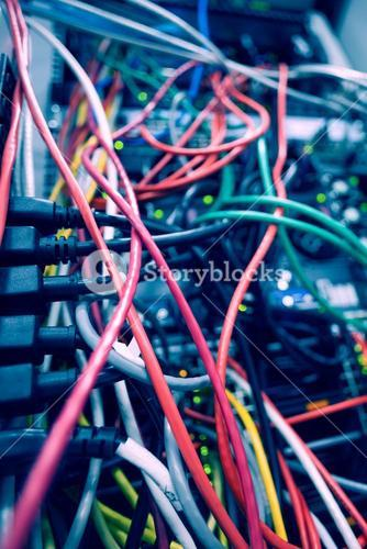 Cables in server