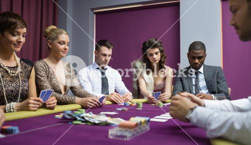 People at the poker table