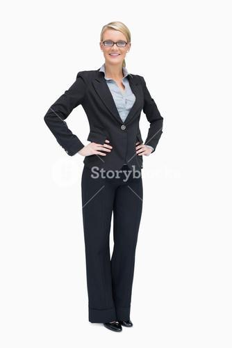 Businesswoman with hands on the hip