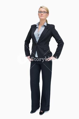 Successful businesswoman standing