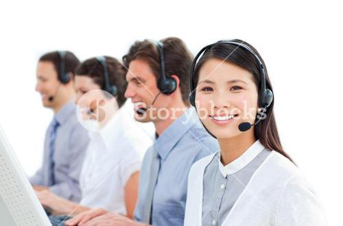 Busy customer service representatives