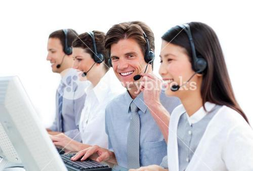 Positive customer service representatives