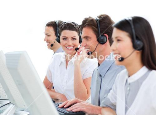 Beautiful customer service representatives