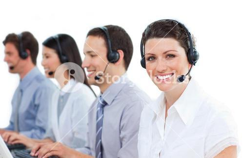 Customer service representatives team