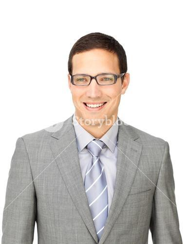 Sophisticated businessman wearing glasses