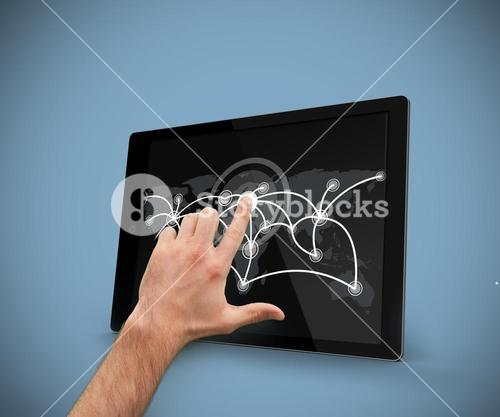 Finger pointing tablet pc