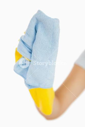 Blue rag for cleaning