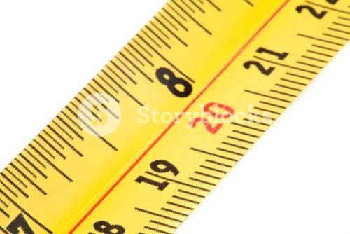 Close up of measure tape