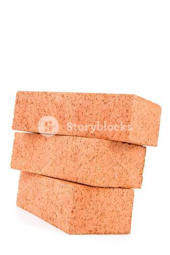 Stack of bricks falling down