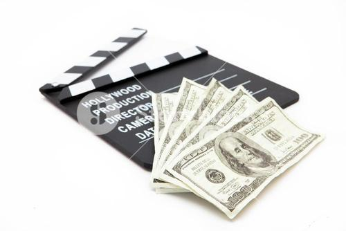 Film slate and money
