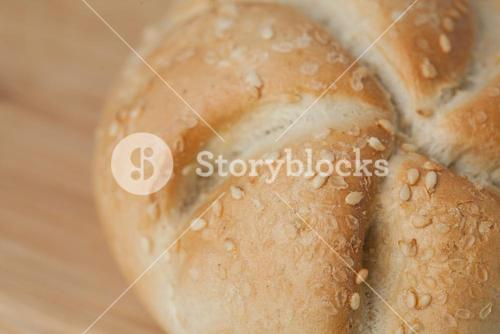 Bread with sesame seeds
