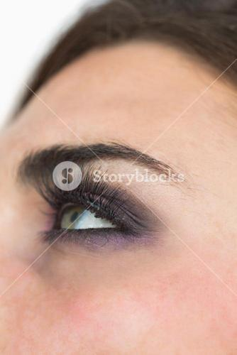 Smoky eyes and long eyelashes