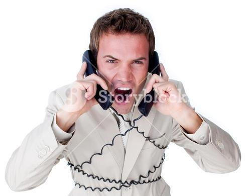 Confident businessman having a phone call