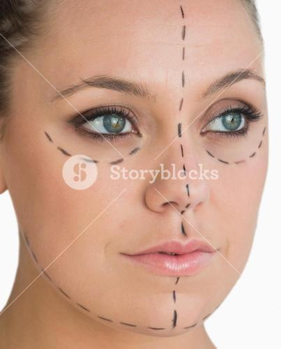 Calm woman ready for face lift