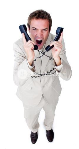 Male businessman having a phone call