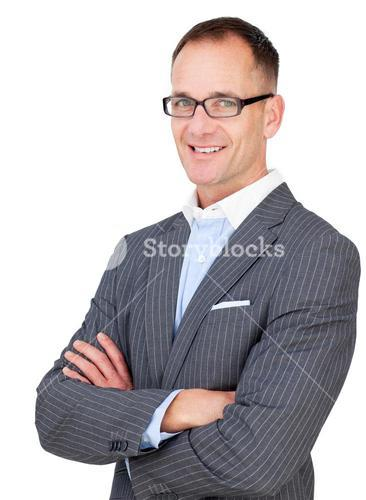 Middle aged businessman wearing glasses