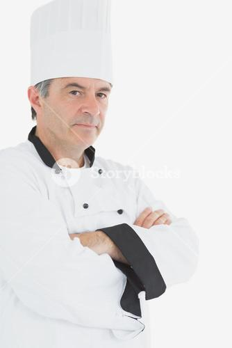 Confident chef with arms crossed