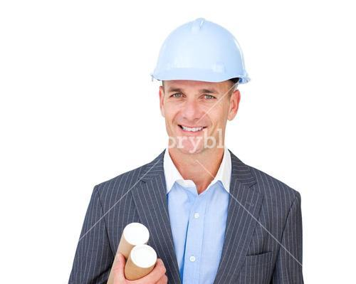 Portrait of a charismatic male engineer