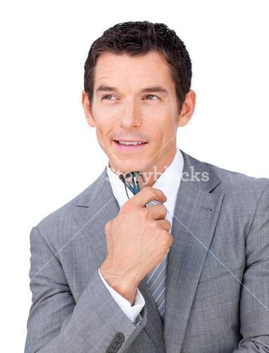 Charming businessman holding glasses