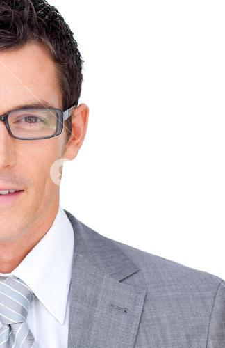 Attractive businessman wearing glasses