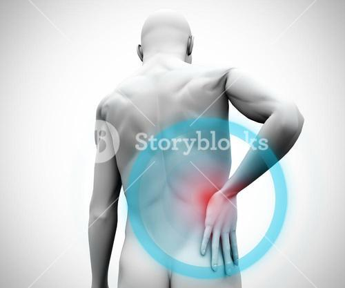 Digital model with back pain