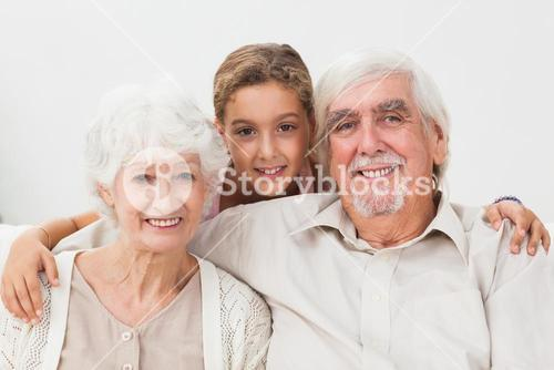 Granddaughter and grandparents