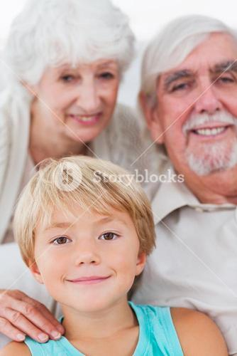 Grandson with grandparents
