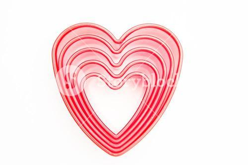 Pink heart cookie cutters