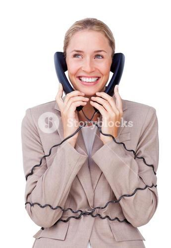 Sales woman representative talking on headset