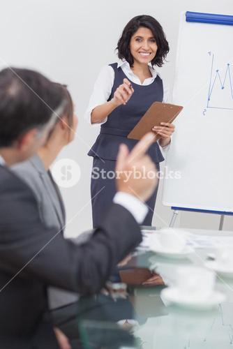 Businessman wanting to ask a question