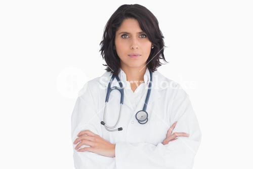 Doctor with a stethoscope and arms crossed