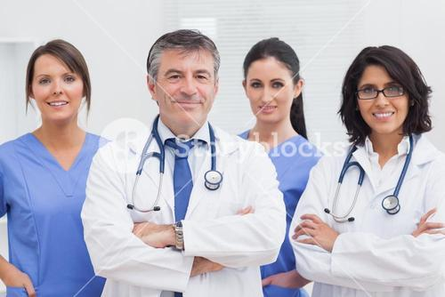 Two doctors and two nurses