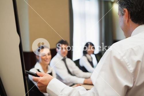 Man giving a business presentation