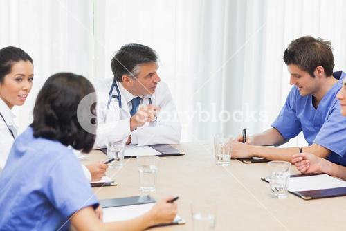 Meeting of medical team
