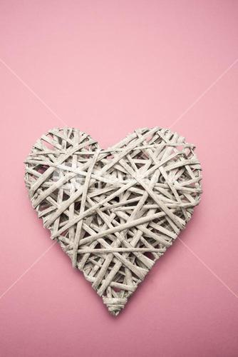 Wicker heart ornament