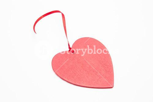 Heart ornament with ribbon