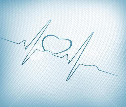 ECG line with heart graphic