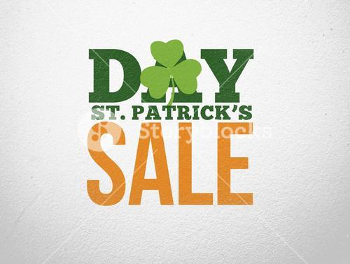 Advertisement for st patricks day sale