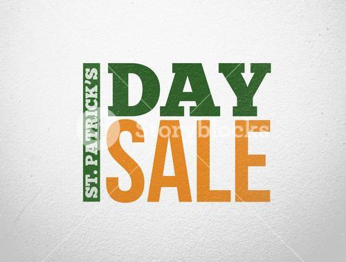 Modern style advertisement for st patricks day sale