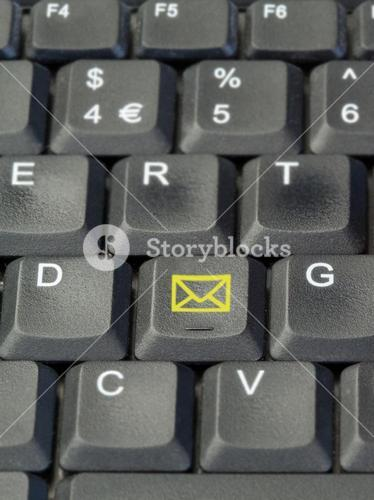 Yellow email button on keyboard