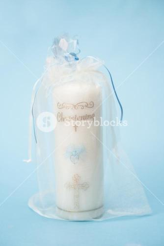 Christening candle for a boy