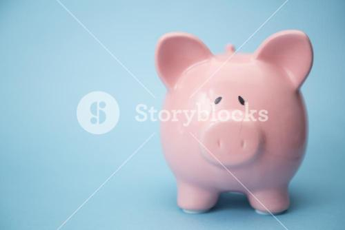 Piggy bank with copy space