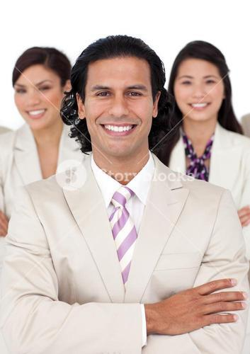 Portrait of a manager and his team