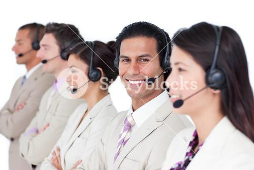 United business team in a meeting
