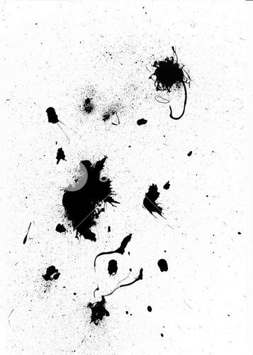 Black ink splashes and splatters
