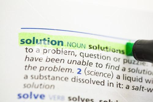 Solution definition highlighted